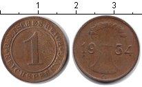 Изображение Монеты Веймарская республика 1 пфенниг 1934 Медь