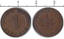 Изображение Монеты ФРГ 1 пфенниг 1968 Медь XF