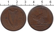 Изображение Монеты Ирландия 1 пенни 1933 Медь XF