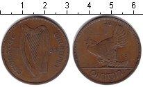 Изображение Монеты Ирландия 1 пенни 1935 Медь  Курица с цыплятами.