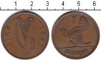 Изображение Монеты Ирландия 1 пенни 1943 Медь
