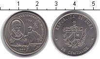 Изображение Монеты Куба 25 сентаво 1989 Медно-никель XF