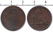 Изображение Монеты Бельгия 2 сантима 1864 Медь VF
