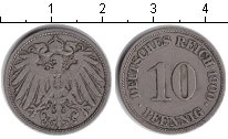 Германия 10 пфеннигов 1900 Медно-никель