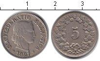 Изображение Монеты Швейцария 5 рапп 1927 Медно-никель XF