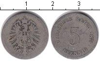 Изображение Монеты Германия 5 пфеннигов 1874 Медно-никель XF