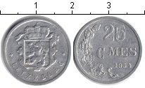 Изображение Монеты Люксембург 25 сентим 1954 Алюминий XF