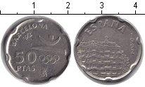 Изображение Монеты Испания 50 песет 1992 Медно-никель XF