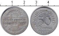 Изображение Монеты Веймарская республика 50 пфеннигов 1920 Алюминий VF А