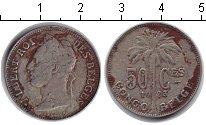 Изображение Монеты Бельгийское Конго 50 сентим 1923  VF