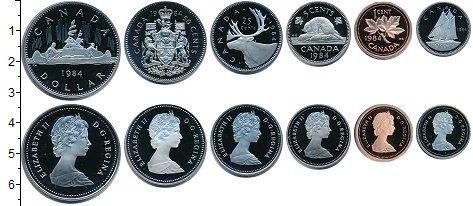 Изображение Наборы монет Канада Канада 1984 1984  Proof- В наборе 6 монет ном