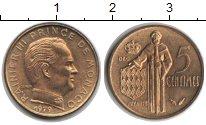 Изображение Мелочь Монако 5 сантим 1977 Латунь XF