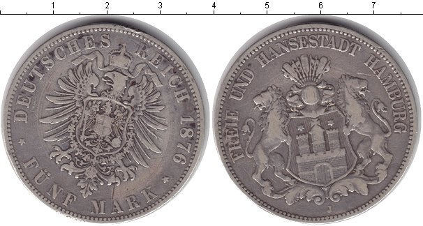 5 марок 1876 монета императрица самодержица всероссийская екатерина