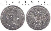 Изображение Монеты Вюртемберг 5 марок 1898 Серебро XF Вильгельм II