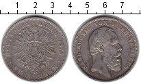Изображение Монеты Вюртемберг 5 марок 1876 Серебро VF Карл