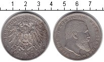 Изображение Монеты Вюртемберг 5 марок 1903 Серебро VF Вильгельм II