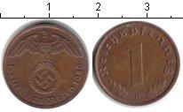 Изображение Монеты Третий Рейх 1 пфенниг 1940 Медь XF G