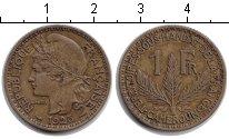 Изображение Монеты Камерун 1 франк 1925 Медь XF Французский мандат