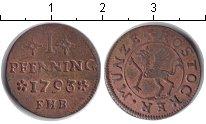 Изображение Монеты Росток 1 пфенниг 1793 Медь VF
