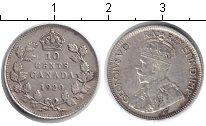 Изображение Монеты Канада 10 центов 1920 Серебро VF Георг V