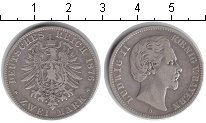 Изображение Монеты Германия Бавария 2 марки 1876 Серебро VF