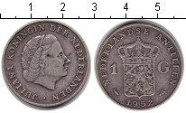 Изображение Монеты Антильские острова 1 гульден 1952 Серебро XF Колония Нидерландов