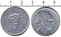 Изображение Монеты Италия 5 лир 1949 Алюминий XF