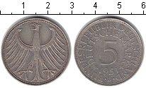 ФРГ 5 марок 1951 Серебро