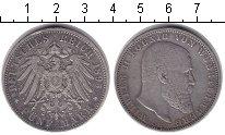 Изображение Монеты Вюртемберг 5 марок 1895 Серебро XF
