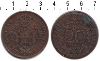 Изображение Монеты Португалия 20 рейс 1865 Медь XF Людовик I
