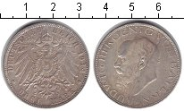 Изображение Монеты Бавария 3 марки 1914 Серебро XF Людвиг III