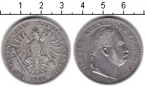 Изображение Монеты Пруссия 1 талер 1866 Серебро VF Вильгельм.