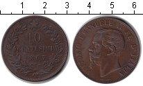 Изображение Монеты Италия 10 сентесим 1867 Медь XF Витторио Имануил II