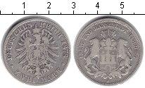 Изображение Монеты Гамбург 2 марки 1878 Серебро XF J