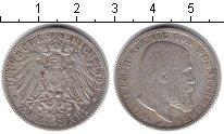 Изображение Монеты Вюртемберг 2 марки 1902 Серебро XF Вильгельм II