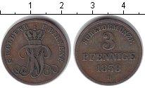 Изображение Монеты Германия Ольденбург 3 пфеннига 1858 Медь