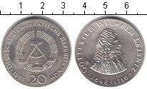 Изображение Монеты ГДР 20 марок 1966 Серебро XF 250 лет со дня смерт