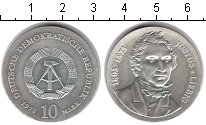 Изображение Монеты ГДР 10 марок 1978 Серебро XF 175 годовщина химика