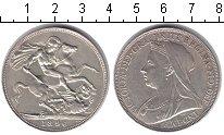 Изображение Монеты Великобритания 1 крона 1896 Серебро XF