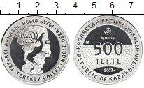 Изображение Монеты Казахстан 500 тенге 2007 Серебро Proof-