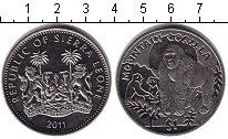 Изображение Монеты Сьерра-Леоне 1 доллар 2011 Медно-никель UNC- Горная горилла.