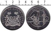 Изображение Монеты Сьерра-Леоне 1 доллар 2012 Медно-никель UNC- Олимпийские игры.