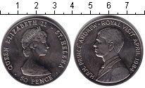 Изображение Монеты Остров Святой Елены 50 пенсов 1984 Медно-никель XF Визит принца Эндрю.