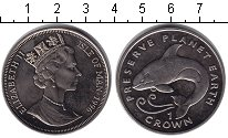 Изображение Монеты Остров Мэн 1 крона 1996 Медно-никель XF Сохранение животного
