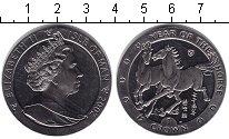 Изображение Монеты Остров Мэн 1 крона 2002 Медно-никель XF