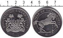 Изображение Монеты Сьерра-Леоне 1 доллар 2002 Медно-никель XF Год лошади.