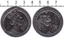 Изображение Монеты Остров Мэн 1 крона 1998 Медно-никель XF Год тигра.