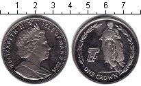 Изображение Монеты Остров Мэн 1 крона 2005 Медно-никель XF
