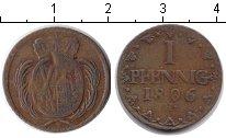 Изображение Монеты Германия Саксония 1 пфенниг 1806 Медь VF