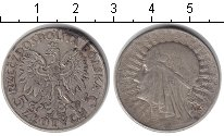 Изображение Монеты Польша 5 злотых 1933 Серебро  Королева Ядвига.